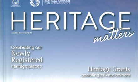 Heritage Matters Article